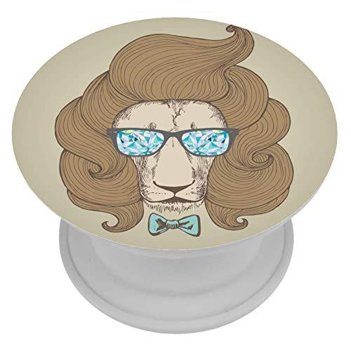 OKONE Schicker Haarschnitt mit Brille, klappbarer Griff und Ständer für Handys, Handys, Airbag-Halter, Halterung und Halterung, Smartphone-Zubehör, Geburtstagsgeschenkidee