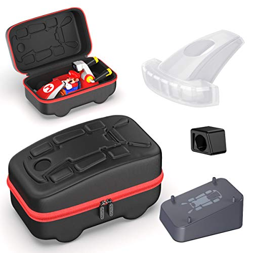 OIVO Zubehör-Set für Switch Mario Kart Live, Tragetasche, Kart-Halterung, Kart-Kopfabdeckung, Kamera-Abdeckung für Nintendo Switch