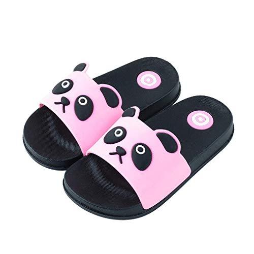 KVbabby Kinder Badelatschen Sommer Flache Hausschuhe Jungen Mädchen Dusch-& Badeschuhe Anti-Rutsch Slipper Sandalen,Pink,29/30 EU = Hersteller 30-31