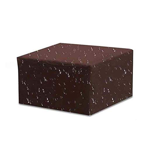 Ancdream Garden Funda Impermeable para Muebles de Exterior para sillas de Mesa, Muebles de ratán para Patio, 210D Oxford Brown 213 X 132 X 70cm