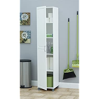 Ameriwood SystemBuild Kendall 16  Storage Cabinet, White Stipple