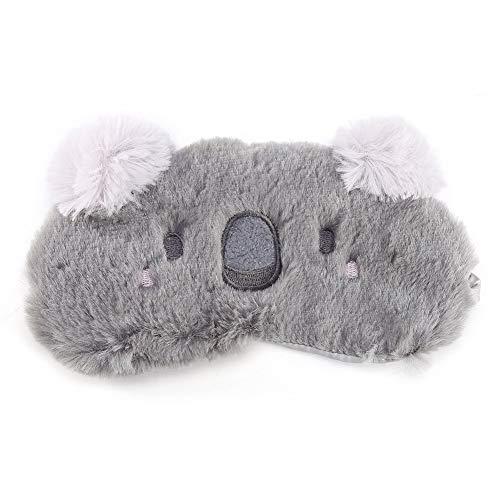 Weihnachtsschlafmaske Nette Tieraugenabdeckung Schlafmaske Hirsch Winterkarton Nap Eye Shade Maske für Mädchen Frauen Erwachsene(Koala)