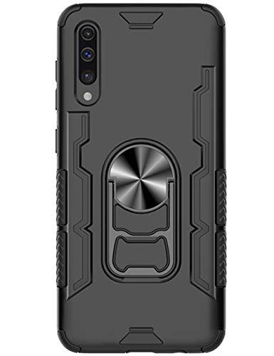 Riyeri Hülle Kompatibel für Samsung Galaxy A50 Handyhülle Silicon + Qualitäts-PC Dauerhaft Handytasche mit 360 Grad Drehbar Ringhalter [Halterung Funktion] Schutzhülle mit Korkenzieher