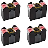 4 Pack 1-6 Deck Playing Card Shuffler Automatic Battery Operated Casino Dealer Travel Machine Dispenser (LEGENDARY-YES)