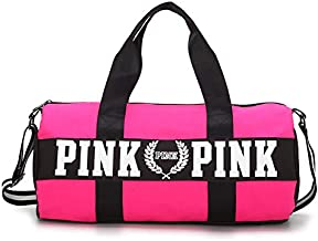Victoria's Secret Canvas Duffle Bag For Girls,Pink - Travel Duffle Bags