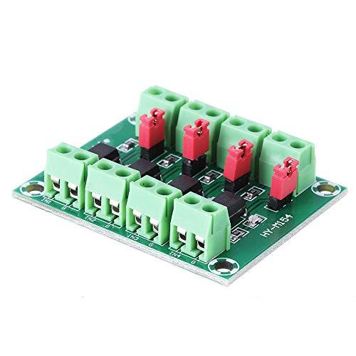 Módulo electrónico PC817 4 canales Optoacoplador Aislamiento Junta tensión del módulo adaptador convertidor fotoeléctrico 3.6-30V conductor aislado Módulo PC 817 10pcs Equipo electrónico de alta preci