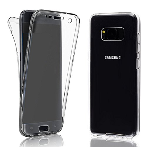 Eximmobile 360° Full Handyhülle für Samsung Galaxy S6 Edge+ in transparent | Samsung Galaxy S6 Edge Plus Case für vorne und hinten | Silikon Schutzhülle | Handytasche Schutz | Cover Tasche Etui Hülle