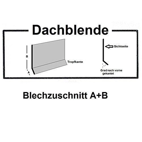 Dachblende 200 cm ( 2000mm) lang Stahl verzinkt anthrazitgrau RAL7016 Dachprofil Abtropfblech Dachblech Kantblech (Z:200/A:15mm+B:185mm/10 Grad)