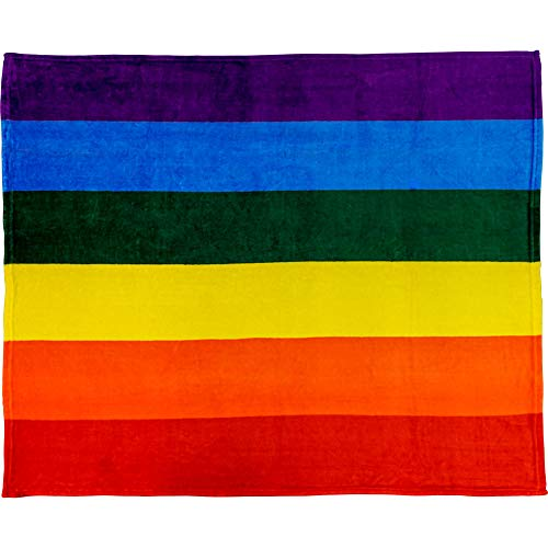 Infinity Republic - Rainbow Pride Soft Fleece Throw Blanket - 50x60 Perfect for Living Rooms, bedrooms, Kids' Rooms, Outdoors & Holiday Gifts!