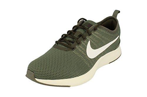 Nike Dualtone Racer GS Running Trainers 917648 Sneakers Shoes (UK 4 US 4.5Y EU 36.5, River Rock White Sequoia 007)