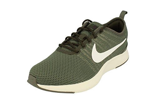 Nike Dualtone Racer GS Running Trainers 917648 Sneakers Shoes (UK 4 US 4.5Y EU 36.5, River Rock White Sequoia 007)
