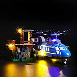 Function: The Light Kit is compatible with lego City Mountain Police Mountain Arrest Chase Chinook Helicopter 60173 Building Block Model. Colorful Light: The light Kit will emit beautiful lights in the dark. add more charm to your model and show your...