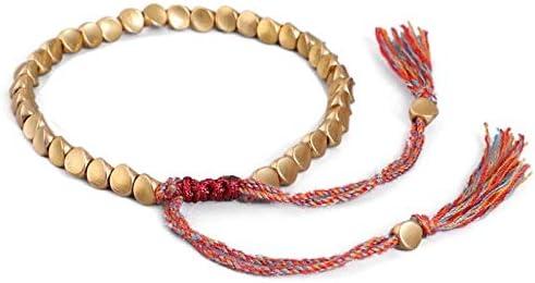 Handmade Tibetan Copper Bead Bracelet Very popular! Men Women with Tassels for Credence