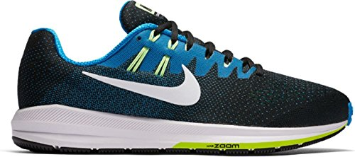 Nike Men's Air Zoom Structure 20 (Extra Wide) Black Photo Blue Ghost Green White10 D(M) US