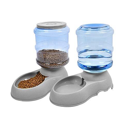 Umi. Essentials Futterautomatenset für Katzen/Hunde - 2-teiliger Futter- und Wasserspender für Haustiere