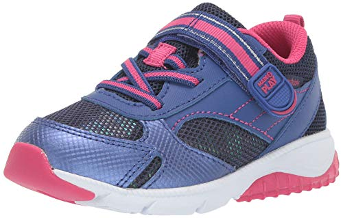 Stride Rite Girls' M2P Indy Sneaker, Navy/Pink, 10 M US Toddler