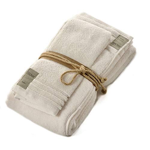 Fazzini Asciugamani Coccola Panna - Coppia Asciugamani (Viso 60x100 - Ospite 40x60)