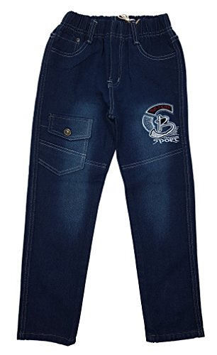 Unbekannt Bequeme Jungen Jeans mit rundum Gummizug in Blau, Gr. 104, J122.4
