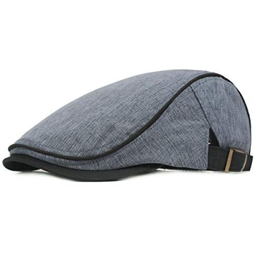 KeepSa - Gorra plana de algodón para hombre, de estilo vintage, gorra irlandesa, boina, estilo...