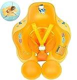 Myir Flotador bebé, Anillo de Natación para bebés de Piscina Flotador Inflable para Niños Flotador de Natación Nadar Anillo Cintura Ajustable (Naranja, L)