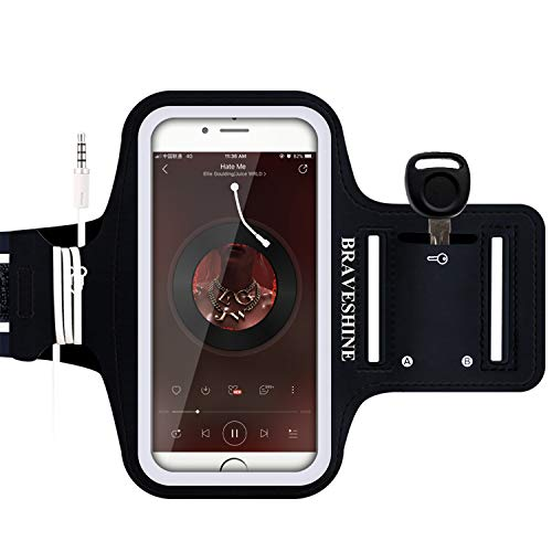 BRAVESHINE Armband for Phone Running Case - Water Resistant Sports Arm Band Workout Holder for iPhone 11 12 Pro Max iPhone XR XS MAX X iPhone 8 7 7s 6 6s Plus iPhone SE 2020 Screen up to 6.7 Inch