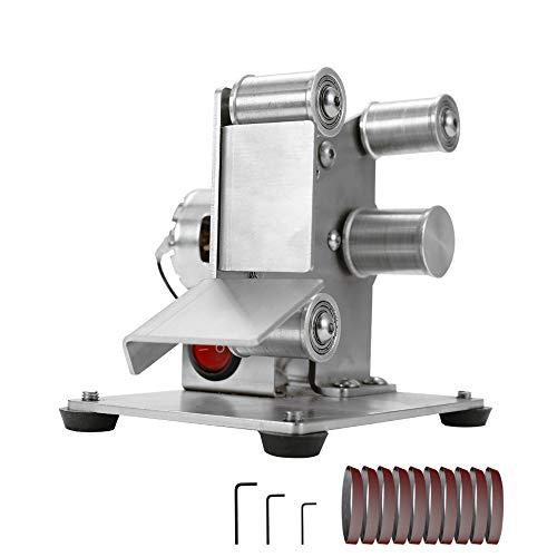 KKmoon Multifunktional Schleifmaschine Mini Elektrische Bandschleifer DIY Polierschleifmaschine Cutter Kanten Spitzer 【Nur Bandschleifer Typ 25】