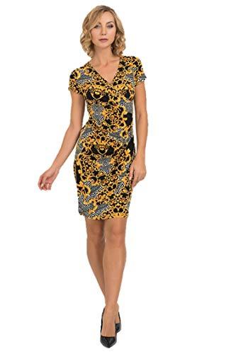 Joseph Ribkoff Black & Gold Dress Style - 193590 Fall 2019 Collection (14)
