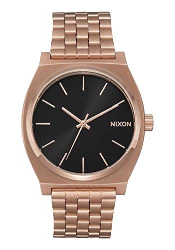 Nuevo Nixon Time Teller reloj todo oro rosa negro rayos solares