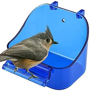Baignoire à Oiseaux à Suspendre, Cage De Douche Nettoyage Bain d'oiseaux pour Cage Boîte de Bain pour Oiseaux Baignoire pour Oiseaux Boîte à Oiseaux Perroquet Baignoire Boîte pour Petit Oiseau Bleu