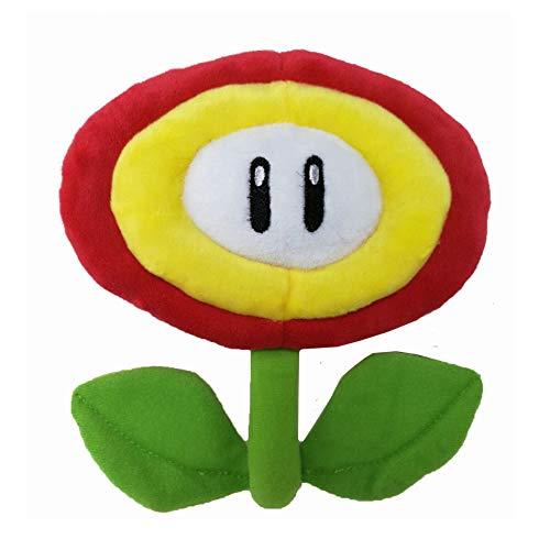 XIFA Plüsch Super Mary Super Mario Spiel Mario Plüsch Spielzeugpuppe Rote Flamme Blume Blaue Eisblume Sonnenblume