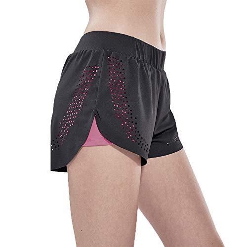Libella Sport Shorts Kurz 2-In-1 Sporthose Sommer Trainingsshorts Yoga Workout Laufshorts Sportleggings 4149 Pink L