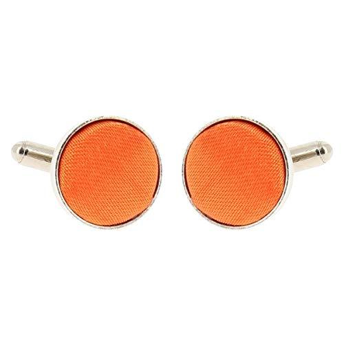 Boutons de Manchette Orange pour Homme - Accessoire Poignet Chemise et Veste de Costume - Mariage, Cérémonie