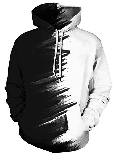 UNIFACO 3D Hoodie Homme Femme Sweat à Capuche Unisex Pull à Manches Longues Sweatshirts Pullover Streetwear à Capuche Homme et Femme Hoody, Multicolore, Taille L