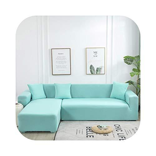 Funda de sofá de color liso para salón, toalla de sofá, todo en L, funda de protección – Pattern 26 Pillowcase-2 unidades