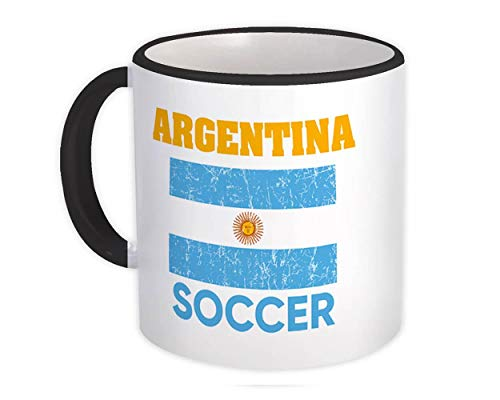 Argentina : Regalo Tazza : Distressed Flag Soccer Football Team Paese argentino