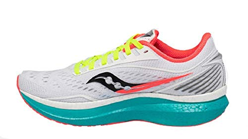 Saucony Women's S10597-10 Endorphin Speed Running Shoe, White Mutant - 10.5 M...