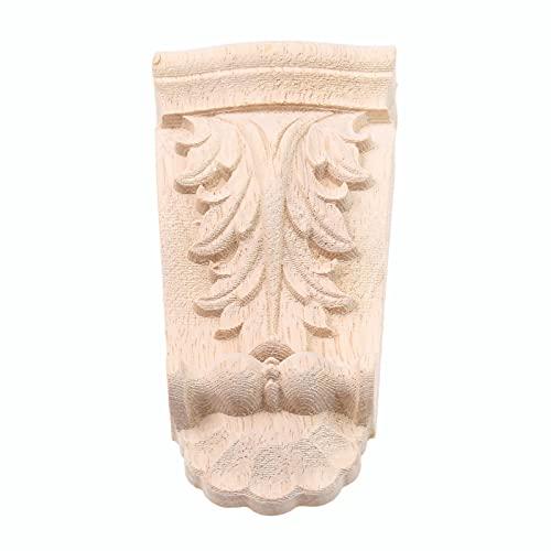 Gaodpz 1 stück Holzschnitzerei Corbels Aufkleber Ecke Applique Rahmen für Möbel Dekorative Tisch Kleiderschrank Bücherregal Figureine Handwerk Wohnkultur (Farbe : 12x6x2cm)