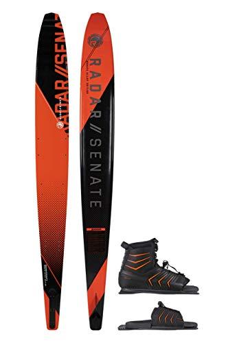 Radar Alloy Senate 69' Slalom Waterski w/Vector Boot (7-11) & Vector Adj. Rear Toe Plate