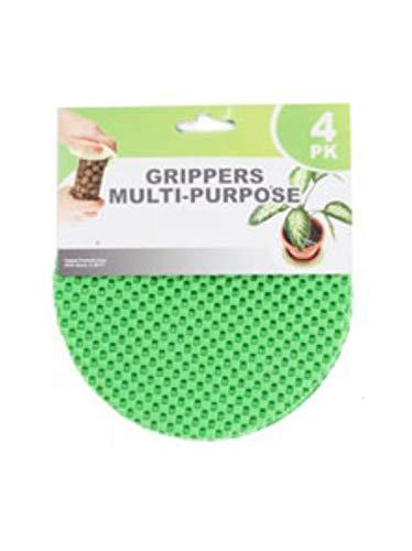 Regent Round Multi-Purpose Jar Gripper Pad Bottle Lid Opener, 4 Piece Set, Colors May Vary
