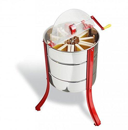 Lega Tangential- Radial Honigschleuder Jolly aus Edelstahl für 5 bis 15 Honigwaben mit Handantrieb