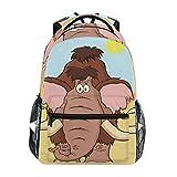 Overlooked Shop Sac à Dos pour Ordinateur Portable, Sac pour Ordinateur mammouth Sac à Livre Voyage Randonnée Camping Daypack