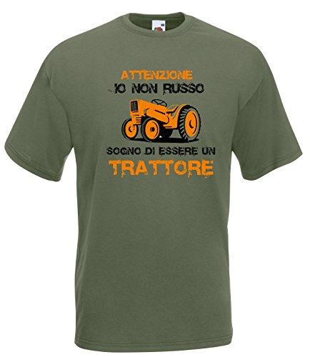 Settantallora - T-Shirt Maglietta J2211 Io Non Russo Sogno di Essere Un Trattore Taglia L