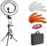 Z@SS Anillo de luz Regulable LED Anillo de luz para Luces Receptor Bluetooth para el teléfono Inteligente Youtube autorretrato Grabación de vídeo