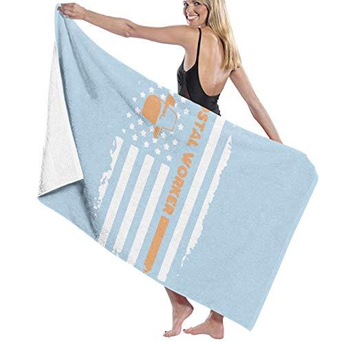 Toalla de baño de la bandera del trabajador de secado rápido suave toalla de ducha de playa 130 x 80 cm