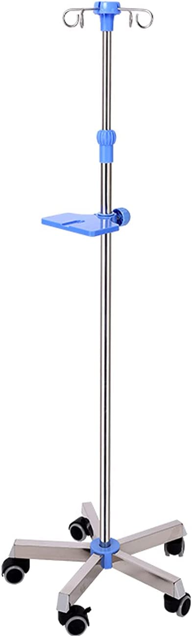 Portable IV Fort Worth Mall Drip Stand Stainless De Steel Medical 5 popular 4-Hook