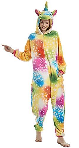 CozofLuv Unisex Pijama Mono Traje de Unicornio Animal para Halloween Carnival Christmas Party (#1, S (148-158cm))