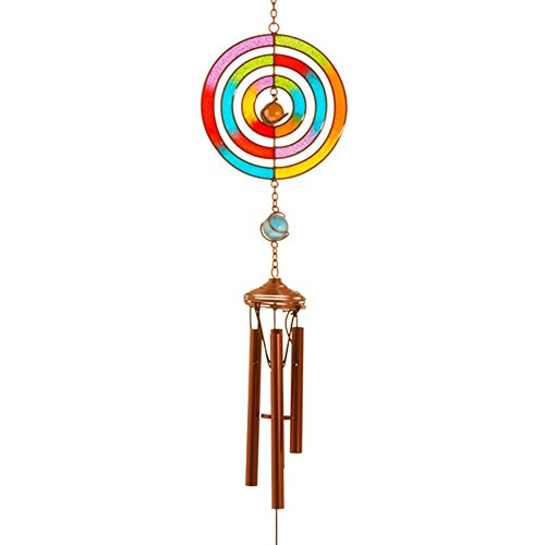 Magnifique et coloré à la main en métal, verre et résine en forme de différents Carillon à suspendre intérieur/jardin décoration Round A