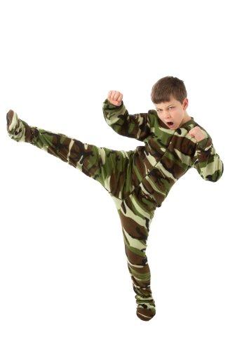 Big Feet Pjs Big Boys Kids Camo Fleece Onesie Footed Pajamas (L)