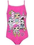 LOL Surprise! Costume da Bagno per Ragazze Dolls Rosa 4-5 Anni