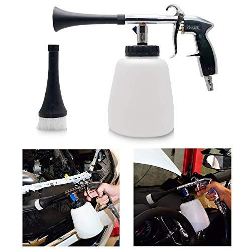 MASO - Juego de pistola neumática de alta presión para limpieza de coche, con boquilla para espuma limpiadora y cepillo de lavado
